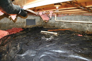 Crawl Space Repair Before in Green Bay