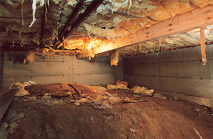 Before view of dirt Crawl Space in Green Bay