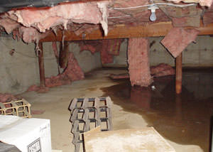 crawl space insulation radiant heat barrier installed in wisconsin
