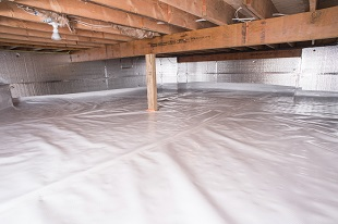 crawl space vapor barrier in Manitowoc installed by our contractors