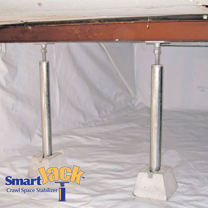 Crawl Space Structural Support Jacks Installed In Green Bay
