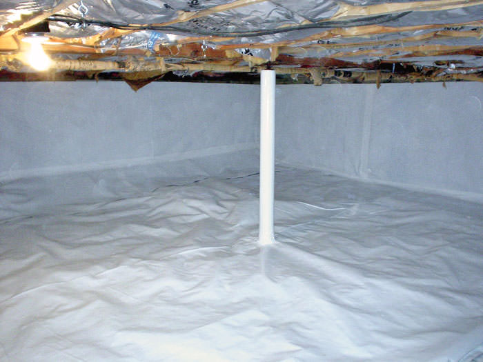 the cleanspace crawl space vapor barrier by wisconsin waterproofers