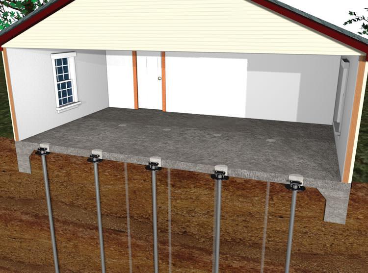Diagram Of A Repaired Concrete Slab Floor