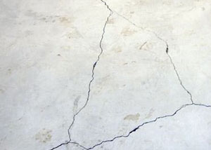 cracks in a slab floor consistent with slab heave in Merrill.