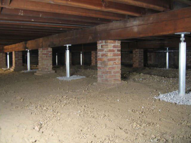 Charming Crawlspace Foundation #6: ... Crawl Space Jack Posts Installed In Wisconsin