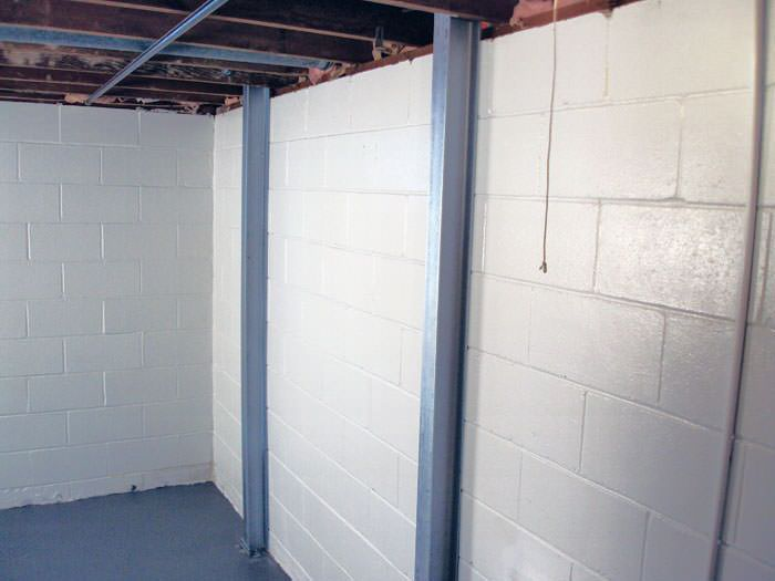 green bay i beam system for basement wall repair in wisconsin
