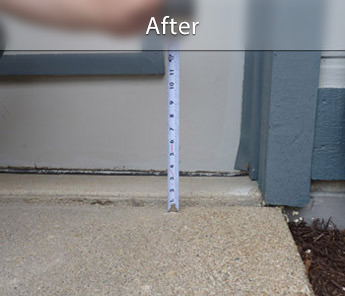 Green Bay concrete walkway repair & leveling