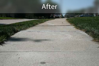 Fixing sunken concrete with PolyLevel® in Green Bay