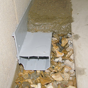 The WaterGuard® basement drain system.