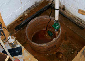 Extreme clogging and rust in a Marshfield sump pump system