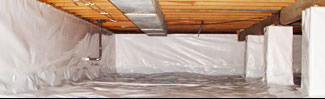 an encapsulated crawl space system in Manitowoc
