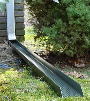 Gutter downspout extension installed in New London