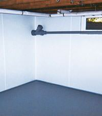 Plastic basement wall panels installed in a Wisconsin Rapids, Wisconsin home