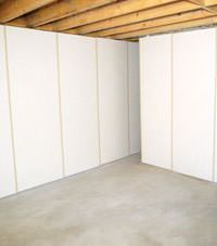 Unfinished basement insulated wall covering in Wisconsin Rapids, Wisconsin